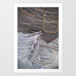 jeans denim as background Art Print