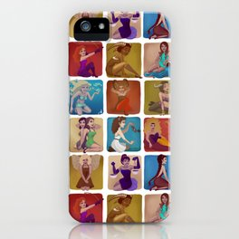 Zodiac pin-up iPhone Case
