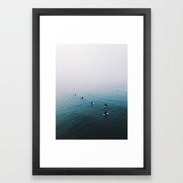 Fog Surf Crew | California Framed Art Print