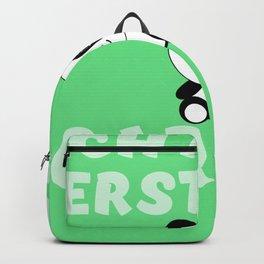 Lustiger Spruch Ich muss erst mal gar nix Pandabär Panda süß Backpack