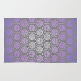 Hexagonal Dreams - Purple Blue Gradient Rug