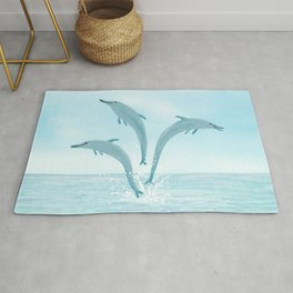 Jumping Dolphins Rug