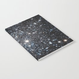 Stars : subtle black blue gold Notebook