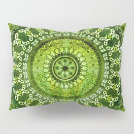Vintage Lime Mandala Pillow Sham