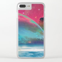 Behind the mirror Clear iPhone Case