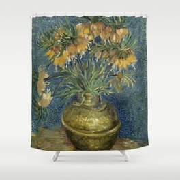 Fritillaries in a Copper Vase by Vincent van Gogh Shower Curtain