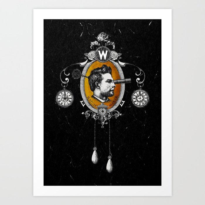 The Watchmaker (black version) Art Print