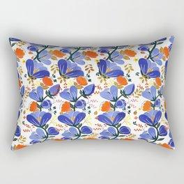 folk spring flowers no2 Rectangular Pillow