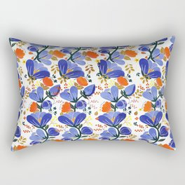 folk spring flowers no2 Rectangular Pillow
