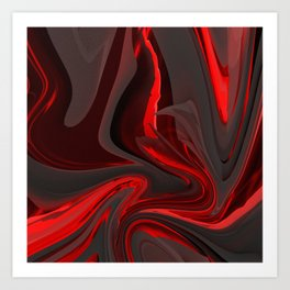 Red Flow Art Print