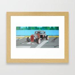 back and red hotrod Framed Art Print