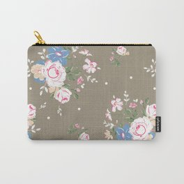 Heirloom Rose - Raw Umber Carry-All Pouch