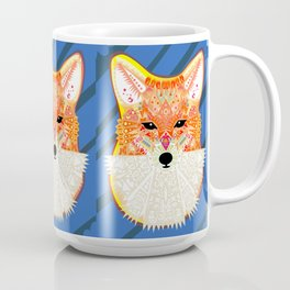 Fox in Blue Coffee Mug