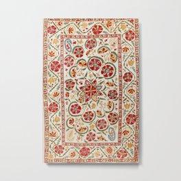 Nurata Suzani Bokhara Uzbekistan Embroidery Print Metal Print
