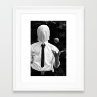 magritte Framed Art Prints featuring Magritte by George Riley