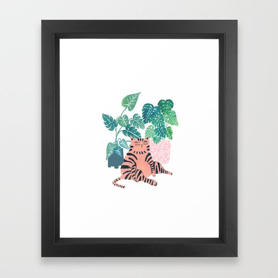 Fat Plant Kitty by amberstextiles