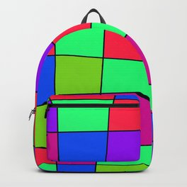 Colorful Window Four Backpack