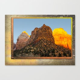 GLOWING EMBERS IN A SUNSET FOR THE DEVAS Canvas Print