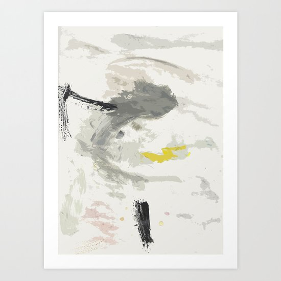 it was cloudy and i danced Art Print