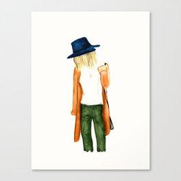 Fall Shades Fashion Illustration Canvas Print