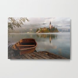 Boat to the Castle (Color) Metal Print