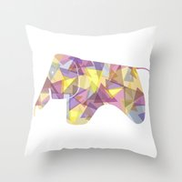eames Throw Pillows featuring Eames Elephant by Melissa Nocero