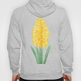 yellow hyacinth watercolor Hoody
