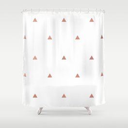 Rose Gold Triangles Shower Curtain