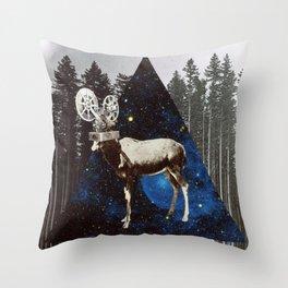 Space Goat Throw Pillow