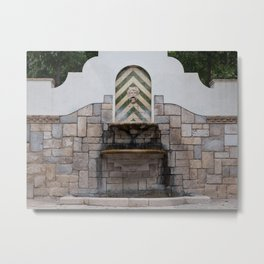 Fountain in Figueres Metal Print