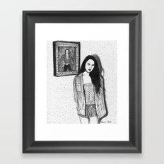 Music portrait  Framed Art Print