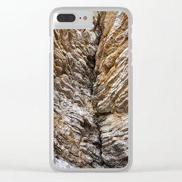 Mountain texture  Close up. Clear iPhone Case