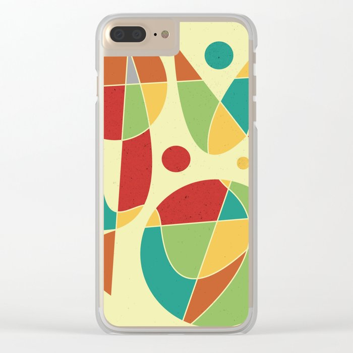 Abstract #135 Clear iPhone Case