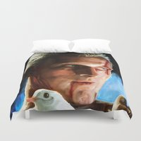 blade runner Duvet Covers featuring Roy  (Blade Runner) by  JESUS TORRADO TORO (jarttoro)