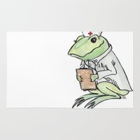 nurse Area & Throw Rugs featuring Nurse Frogly by Sharayah P