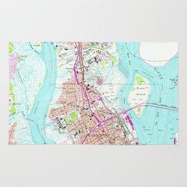 Vintage Map of Charleston South Carolina (1958) Rug