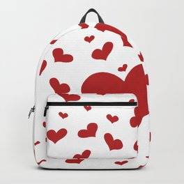 many hearts, love, romance, valentines day Backpack