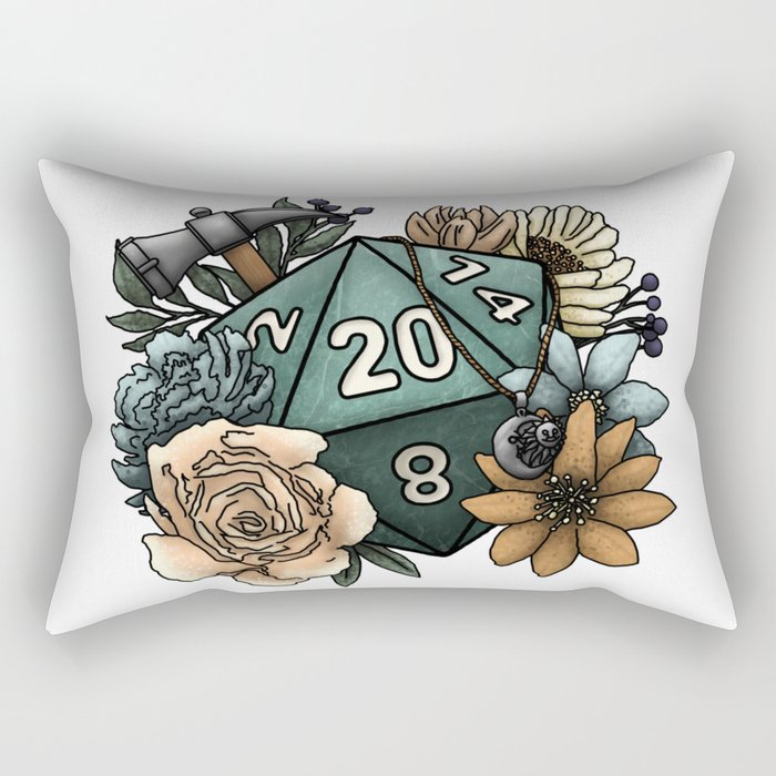 Cleric Class D20 - Tabletop Gaming Dice Rectangular Pillow