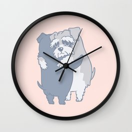 Schnauzer  Hugs Wall Clock