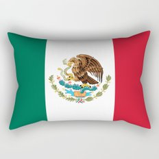 The Mexican national flag - Authentic high quality file Rectangular Pillow