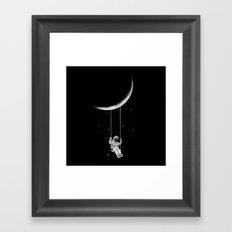 Moon Swing Framed Art Print