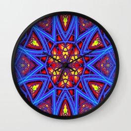 Rainbow Fractal 3 Wall Clock