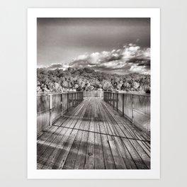 Lakeside Pier Art Print