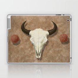 Bison Skull with Rose Rocks Laptop & iPad Skin