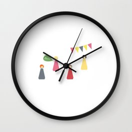 Peg Dolls Wall Clock
