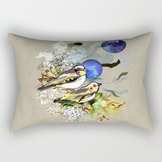 Yellow Birds Rectangular Pillow