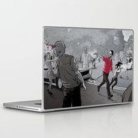 the walking dead Laptop & iPad Skins featuring The Walking Dead by Steven P Hughes