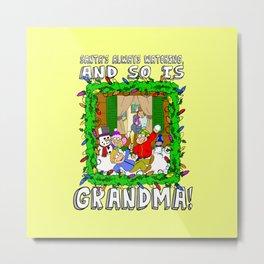 Christmas  |  Santa  |  Grandma Metal Print