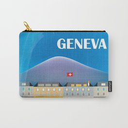 Geneva, Switzerland - Skyline Illustration by Loose Petals Carry-All Pouch