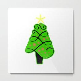 Christmas tree ornaments shirt Metal Print